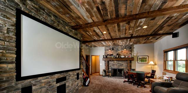 Project Spotlight - Lower Level Remodel with Reclaimed Hardwoods